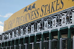 Pimlico Racecourse, home of the Preakness Stakes