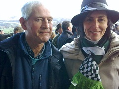 Tanya Stephenson with Chris Wigg at Cheltenham Festival trials