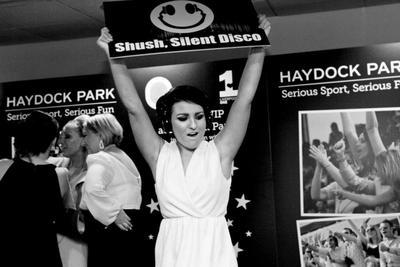 Haydock Park's famous Silent Disco