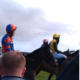 Jockey Ruby Walsh and colleagues
