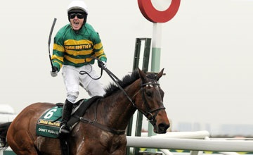 Sir A.P. McCoy wins Grand National on Don't Push It