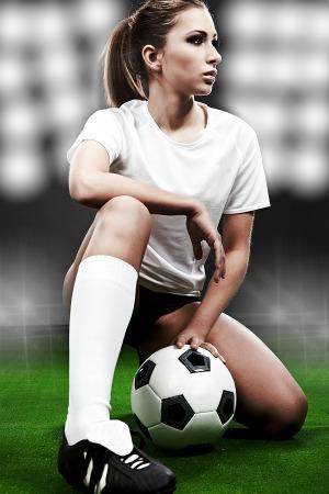 Girl footballer