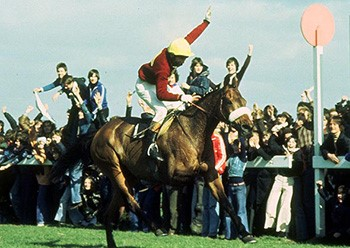 Red Rum wins 1974 Grand National